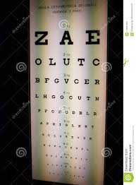 Eye Check Up Chart Distance Eye Exam Chart Stock Image Image Of Chart Ophthalmology