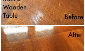 how to remove white heat marks from wood furniture best