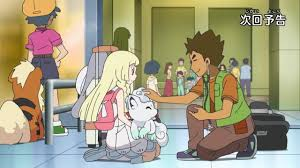 Brock checking out Lillie's Vulpix | Pokémon Sun and Moon
