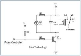 interfacing relay to microcontroller 12v relay wiring arduino relay_driver_circuit_using_single_transistor