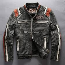 2017 avirex fly leather jackets american customs motor spirit indian head embroidery vintage motorcycle jackets