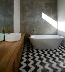 extraordinary black and white bathroom. Melbourne Traditional Tile With Contemporary Bathroom Sinks And Black White Floor Brass Tapware Extraordinary