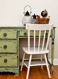 distressing old furniture. Milk-Painted-Vaseline-Distressed-Dsk2 Distressing Old Furniture S