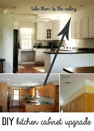 how to update kitchen cabinets with plywood paint and crown molding instead redo countertops without replacing