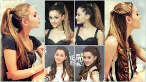 Half Ponytail Hairstyles Ariana Grande High Pony Half Up Half Down Hair Tutorial Youtube