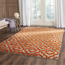 curtain endearing orange and grey rug 1 safavieh porcello light 6 x 9 e6502dd5