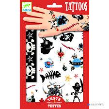 Djeco детская косметика татуировки пираты