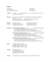 Resume Builder Template Microsoft Word