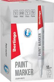 <b>Маркер</b>-краска <b>BERLINGO</b> Белая,нитро-основа,<b>2</b>-<b>4мм</b> BMk_02100
