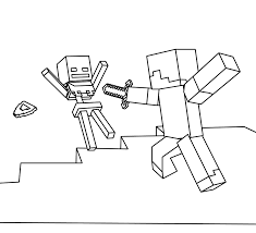 Minecraft World Coloring Pages On Minecraft Coloring Pages