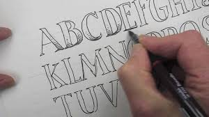 how to draw an alphabet of capital letters