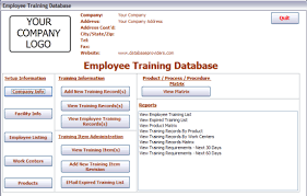 Employee Training Tracking Software Free 24 Images Of Excel Database Template For Employee Trainings