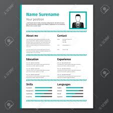 Graphic Resume Template Vector Cv