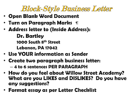Ppt Block Style Business Letter Powerpoint Presentation Id 1503847