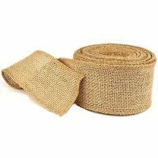 <b>Burlap</b> Hessian Roll Ribbon <b>5cm</b> x 10m <b>Jute</b> Natural <b>Fabric</b> Material ...