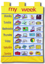 Fabric Days Of The Week Chart My Week Chart