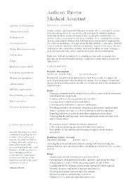 Medical Assistant Objective Statement Certified Medical Assistant Resume Samples Thrifdecorblog Com