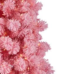 Flocked Christmas Tree Angel Pink Flocked Christmas Tree Treetopia