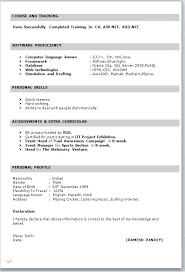 Sample Resume Format In Word Document Resume Format In Word Format