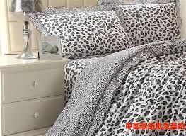 grey gray leopard print korean ruffle comforter bedding
