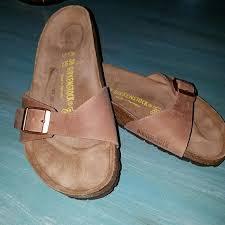 bnib birkenstock madrid leather antique brown