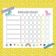 Unicorn Reward Chart Printable Kids Chore Chart Chore Chart For Kids Printable Reward Chart Daily Routine Chart Unicorn Printable