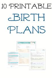 March Of Dimes Birth Plan 10 Free Printable Pregnancy Birth Plans Hospital Bag