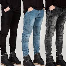 moto pants mens. aliexpress.com : buy streetwear mens ripped biker jeans homme men\u0027s fashion motorcycle slim fit black white blue moto denim pants joggers skinny men from s