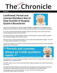 The Grammar Chronicle 1 Placing Periods And Commas In