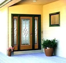 front door glass panels replacement