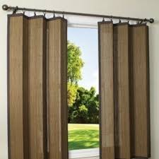 Indoor/Outdoor Bamboo Ring Top Single Curtain Panel