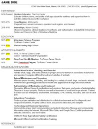 Veterinary Resumes Senior Vet Trcc Resumes References