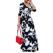 <b>Dresses</b> Plus Size <b>S 5Xl</b> Elegant Women <b>Robe</b> Printed <b>Maxi Dress</b> ...