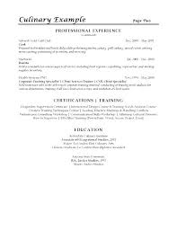 Cover Letter For Cooks With Culinary Resume Examples Grand Culinary