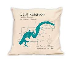Nautical Chart Pillows Amazon Com West Boggs Lake In Davless In 2182 La