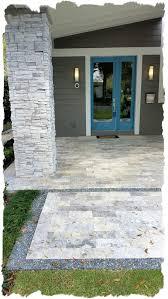 silver travertine 6x12 patio with granite gravel border silver travertine patio e36 patio