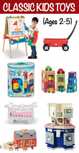 Classic toys for kids 2-5 is a gift guide round-up of some our tried-and-true favorites that stand the test time and are perfect encouraging - Family Food on Table