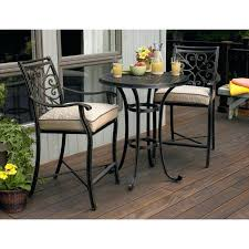 tall outdoor bistro set m balcony height bistro table set made of wrought iron in black