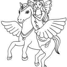 Fairy And Pegasus Coloring Pages Hellokidscom