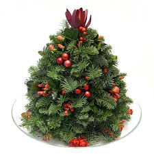 Table Top Christmas Tree Arrangement