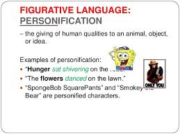 stylistic devices 10 figurative language personification