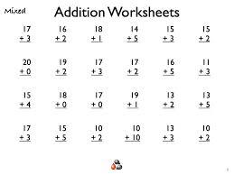 Math Addition Worksheets For 1St Grade Worksheets