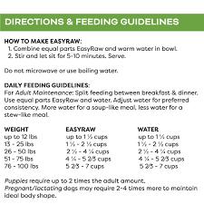 Turkey Feeding Chart Only Natural Pet Easyraw Dehydrated Dog Food Turkey Sweet Potato 2 Lbs Makes 10 Lbs Of Food