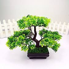 bonsai tree for office. artificial japanese zen bonsai tree home planet with pot. perfect for a desk, table office f