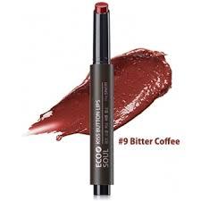 <b>Помада для губ</b> 09 <b>Eco</b> Soul KISS Button Lips 09 Bitter Coffee