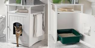 corner cat litter box furniture. Kitty Washroom Litterbox Cabinet: If We Had A Larger Bathroom, This Is Exactly The Sort Of We\u0027d Like In Our Place. Corner Cat Litter Box Furniture F