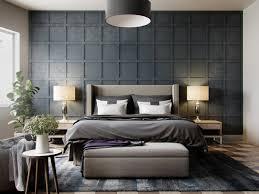 Modern Bedroom Wallpaper Bedroom Grey Wallpaper Bedroom Textured In Squares Chequered