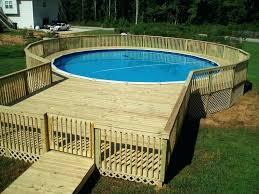 above ground pool decks plans diy sled deck