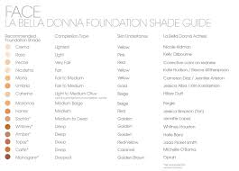 Glo Minerals Colour Chart La Bella Donna Color Guide Skincare By Alana