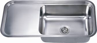 dawn dsu4120single sink with extended drain board work surface 18g 41